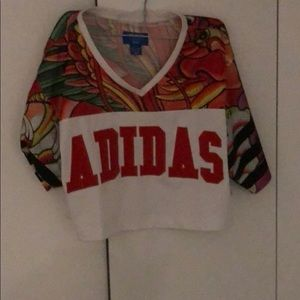 Adidas crop tee